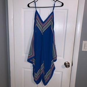 Spaghetti Strap Aztec Print Dress